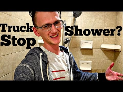 What Are Truck Stop Showers Really Like? (Trucker Vlog Adventure #7)