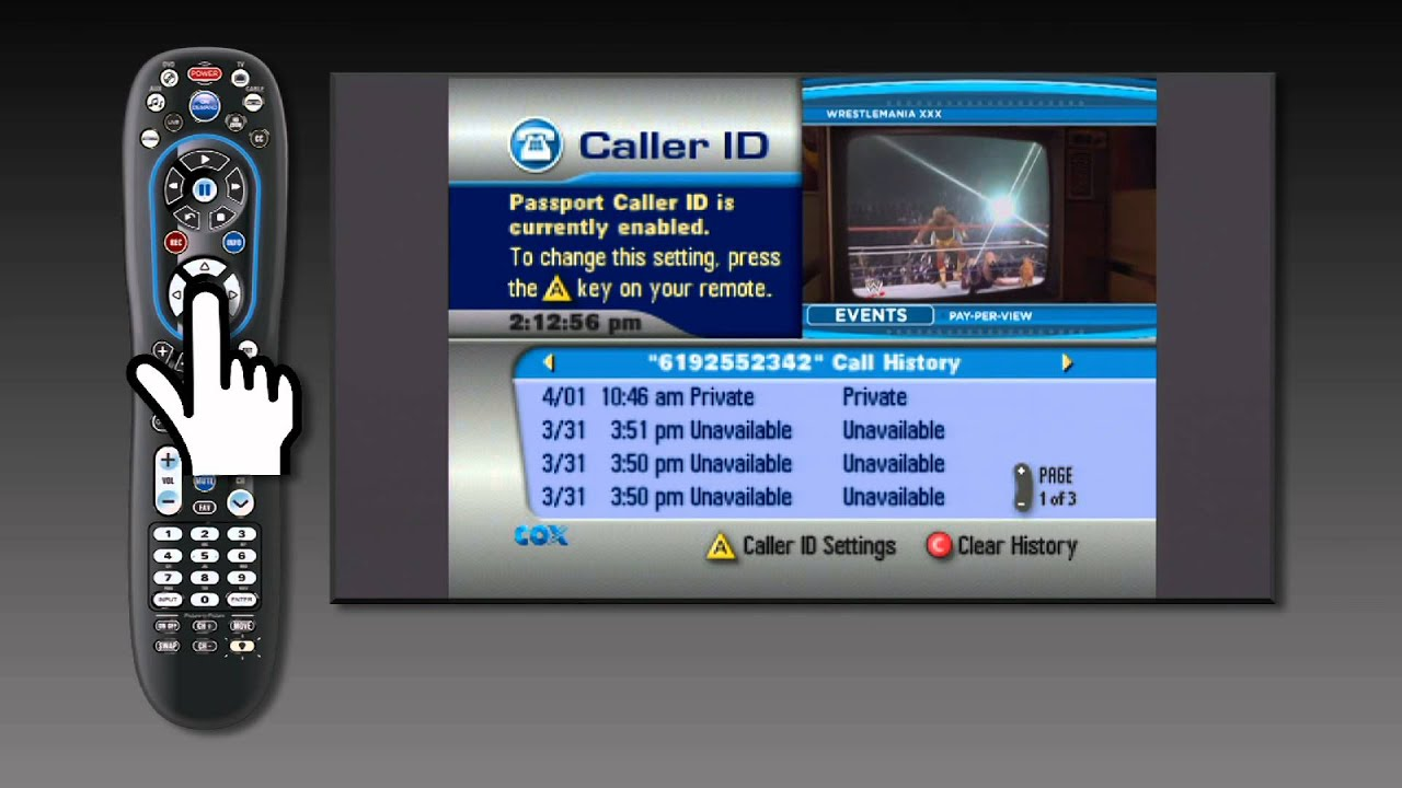 How to set up your caller ID on your TV - Rovi | Cox Digital ...