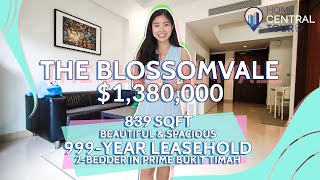 Singapore Condo Property Tour: The Blossomvale - 999-Year Leasehold 2 Bedder In Prime Bukit Timah