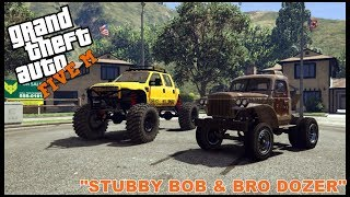 GTA 5 ROLEPLAY - STUBBY BOB AND BRO DOZER VS COPS - EP. 199 - CIV