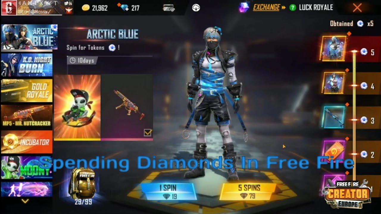 I Got The Arctic Blue Bundle😍 Ξοδεύω Διαμάντια Στο Free Fire🥴