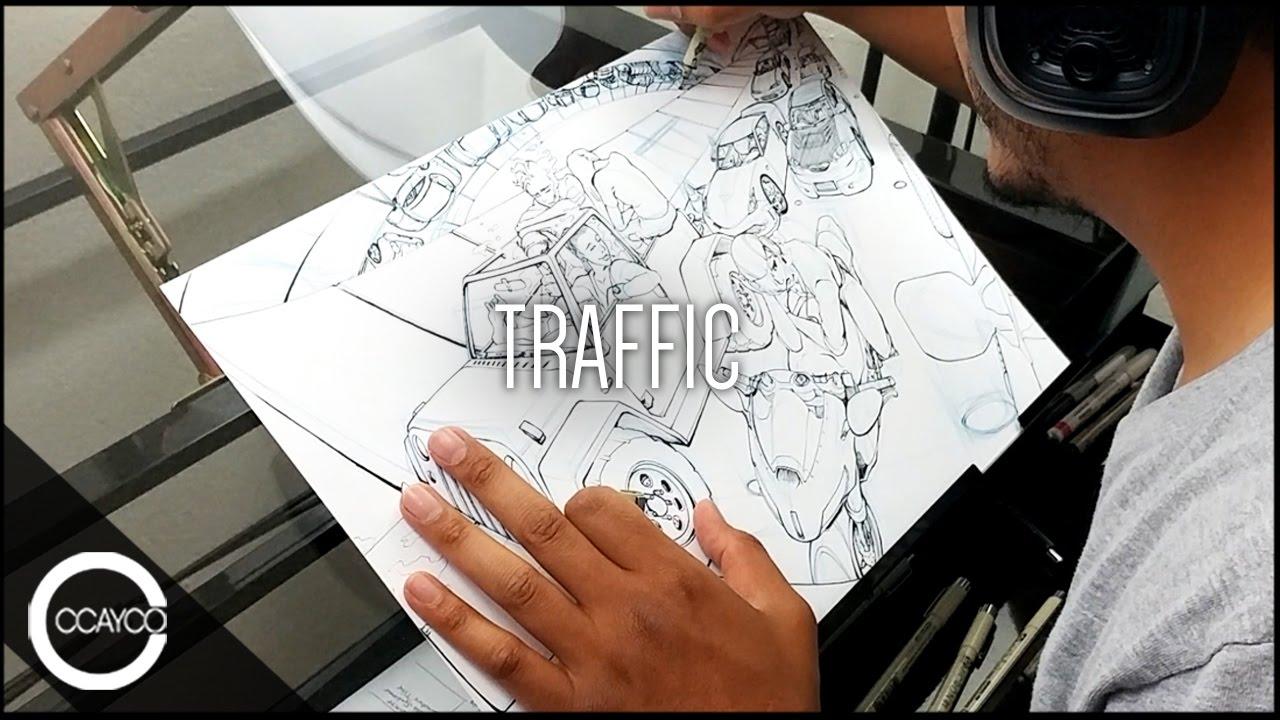 Drawing traffic original piece youtube