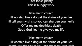 Hozier - Take Me To Church - Lyrics Scrolling