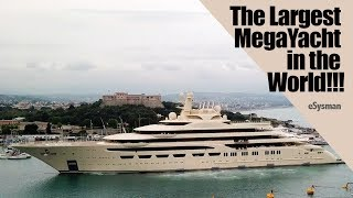 Largest SuperYacht in the World!!!!:  Dilbar MegaYacht