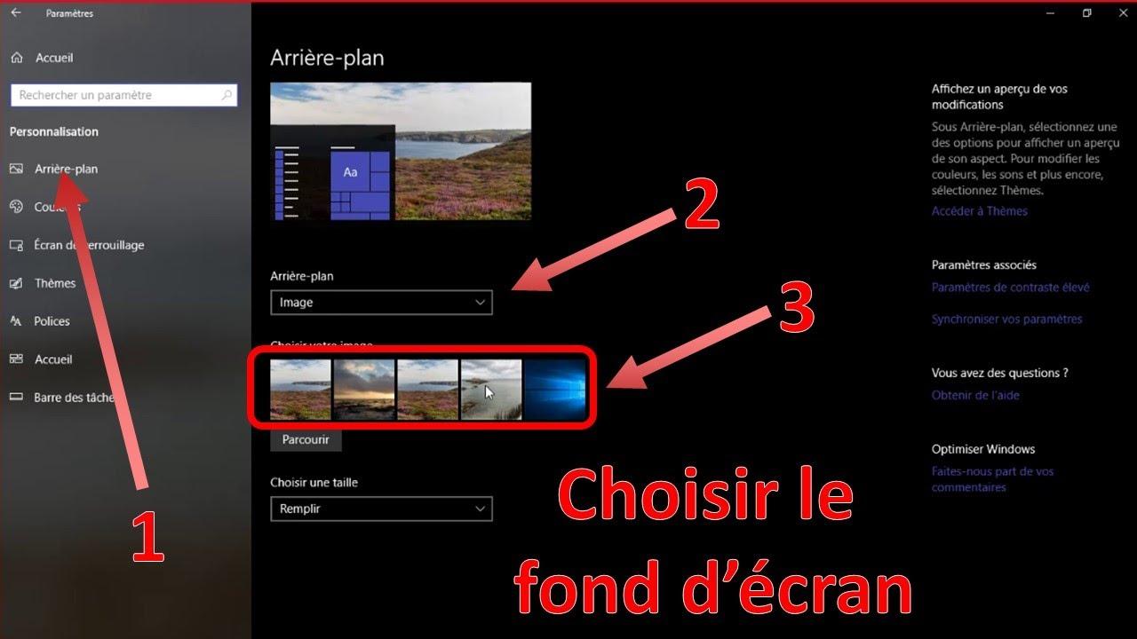 Windows Un Fond D Ecran Different Pour Chaque Ecran Youtube