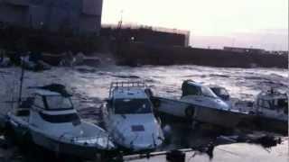 24年4月3日の強風でボート4隻が沈没