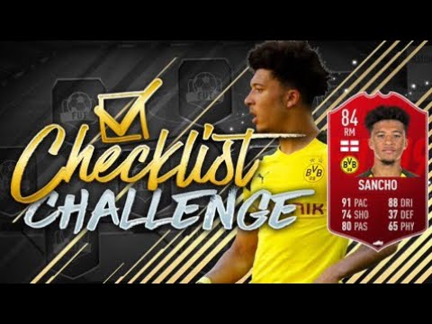 84 RATED POTM JADON SANCHO CHECKLIST CHALLENGE vs REEV