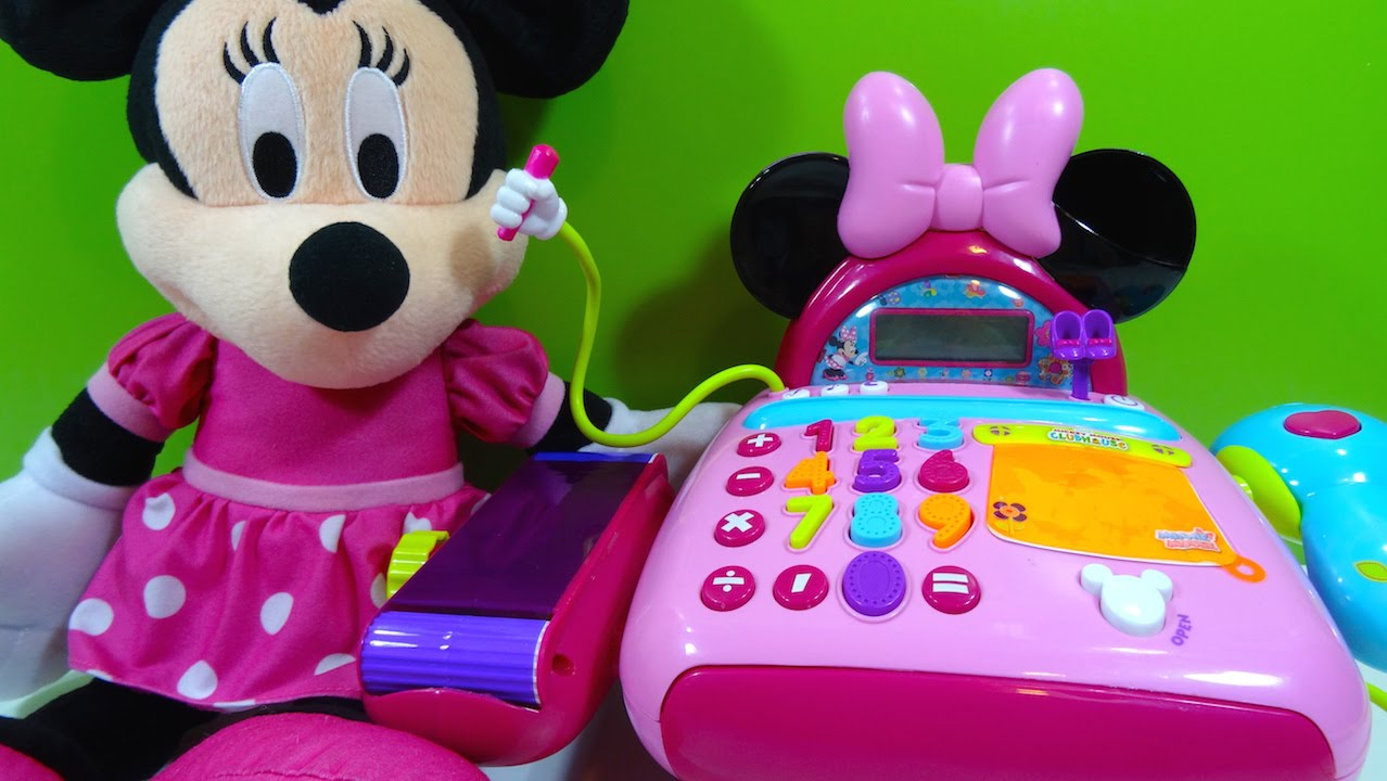 Minnie Mouse Caja Registradora Electronic Cash Register Juguetes