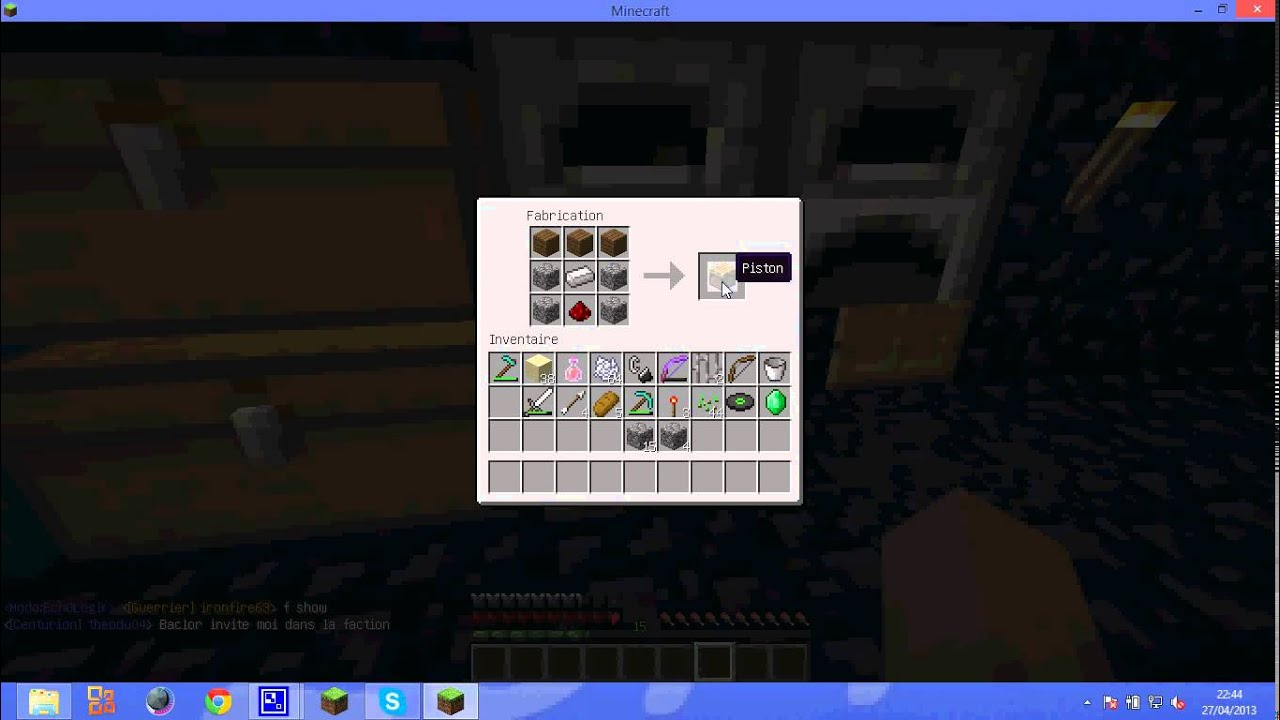 Comment faire un piston minecraft youtube - Comment faire un evier dans minecraft ...