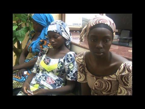 Download Freed Chibok girls arrive in Abuja