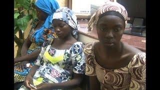 Freed Chibok girls arrive in Abuja