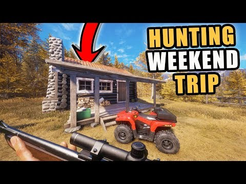 DEER HUNTING TRIP WITH THE BOYS & NEW CABIN! HUNTER CALL OF THE WILD
