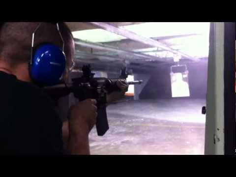 Joey Ansah at Shooting Range in LA