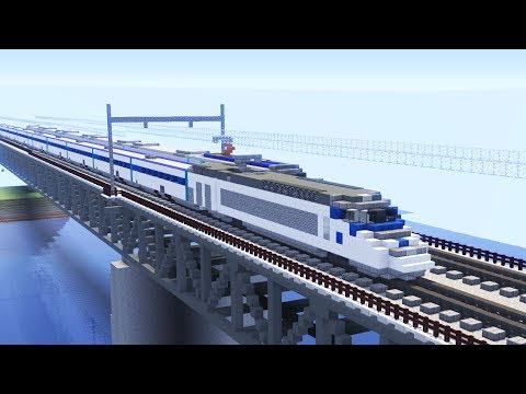 Minecraft KTX-I Korean High Speed Train to Busan Tutorial