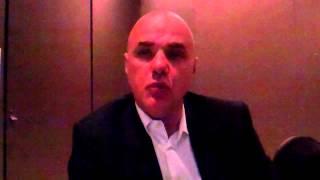 NIKITAS GLYKAS Vice President MEA for HTC speaks to WILLIAM FARIA