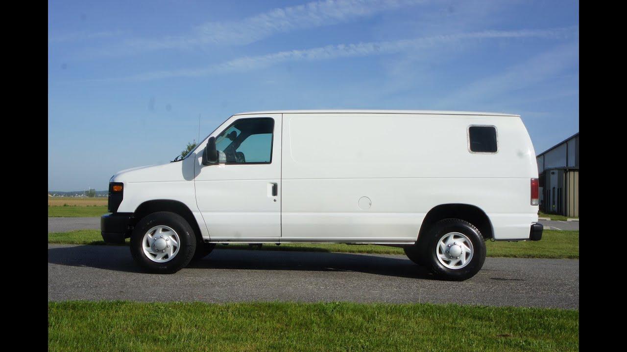 2008 ford e250 econoline cargo van for sale port hole window power locks windows salvage title youtube