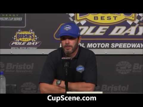 NASCAR at Bristol Motor Speedway, April 2017: Jimmie Johnson pre-race