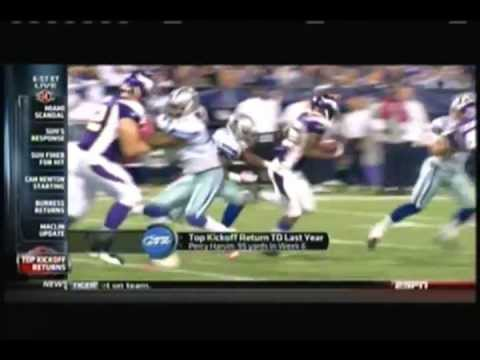 ESPN: 2011 Top 10 Kickoff Returns in the NFL