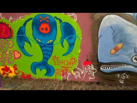 street art de rue - graffitis - canal de l'ourcq - 2018