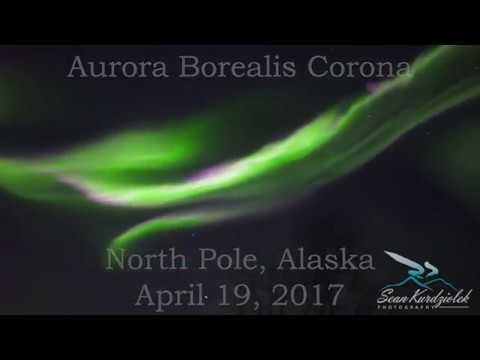Real Time Video of Aurora Borealis Corona (April 19, 2019)