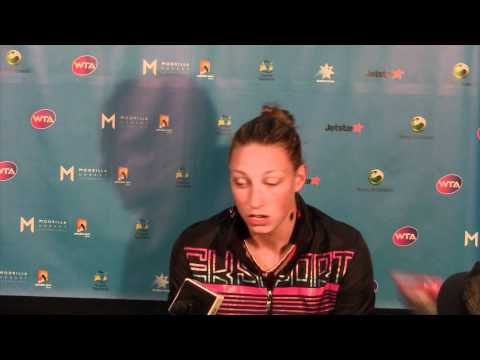 Yanina Wickmayer press conference: Moorilla Hobart International