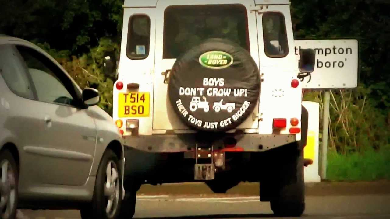 Land Rover Defender With A Cute Spare Wheel Cover Youtube