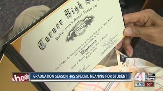 Local 81-year-old gets high school diploma