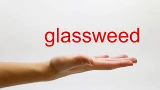 How to Pronounce glassweed - American English