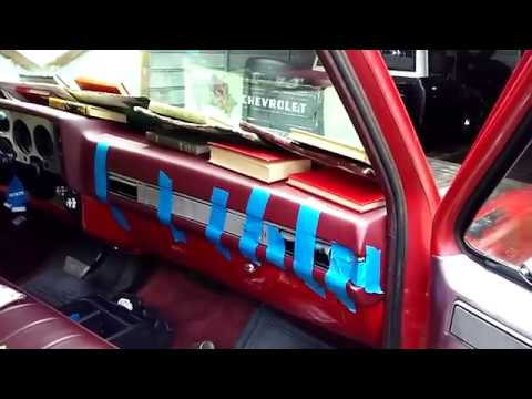 1984 Chevrolet Truck Coverlay Dash Cover Installation Part 4