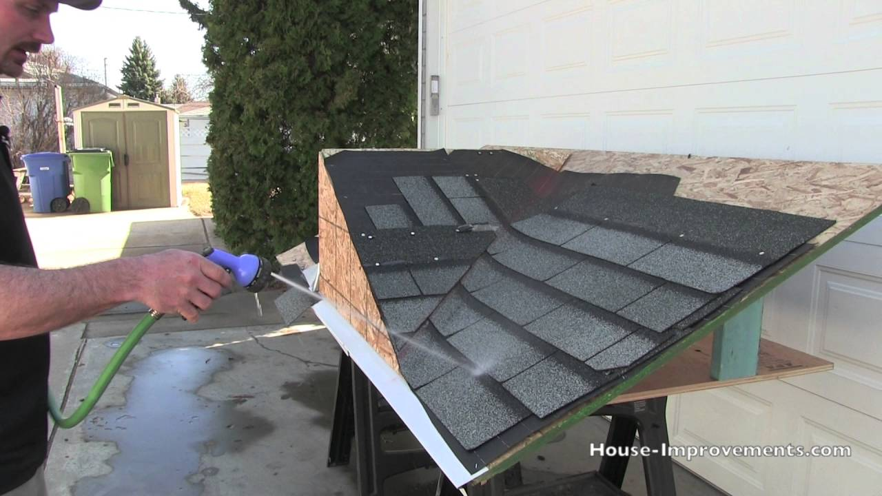 How To Find A Leak In Your Shingles Youtube