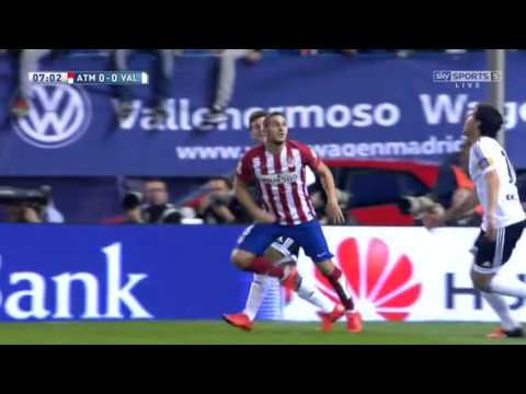 Atletico Madrid vs Valencia Full Match First Half 25 10 2015