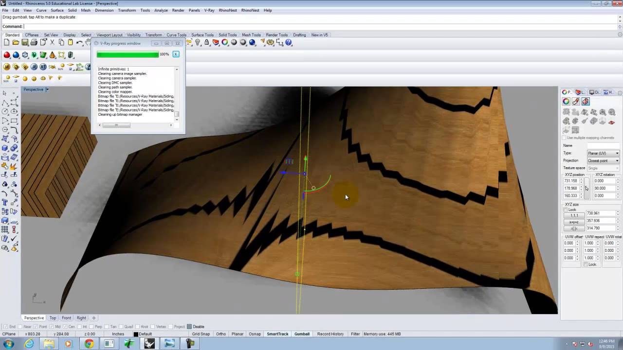 Lecture 207 - Texture Mapping in V-Ray for Rhino (Fall 2015)