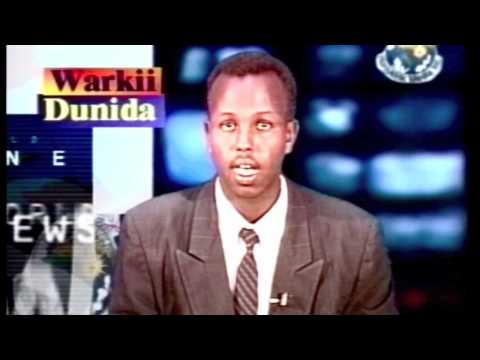 Television News Somalia - 2001 ( My old days in front of the camera )
