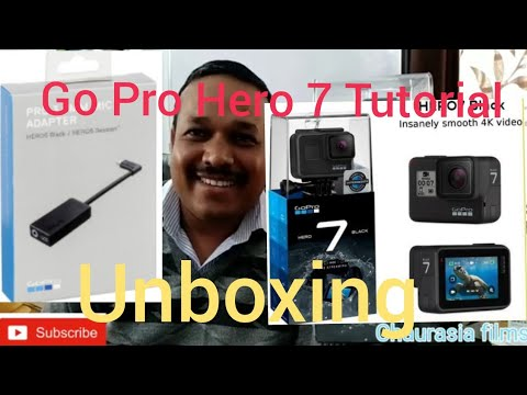 Unboxing GO PRO HERO 7 BLACK AND MIC ADAPTER WITH A-Z TUTORIAL thumbnail
