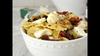 Pasta Salad With Grilled Eggplant And Sun Dried Tomatoes By Cooking With Manuela