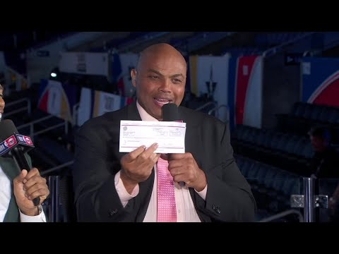 Watch: Trail Blazers cut the check, pay Charles Barkley $1,197