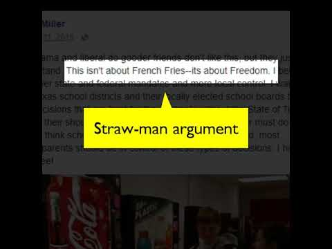Straw-man Argument Example - YouTube