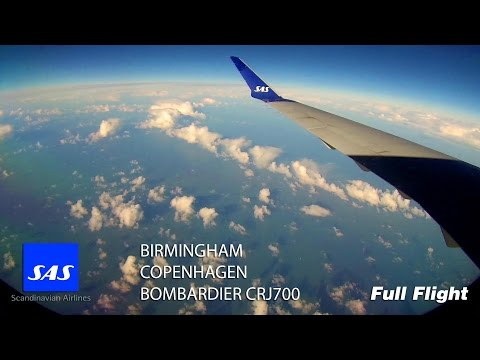 SAS CRJ 900/CRJ900 Full Flight - Birmingham to Copenhagen (S