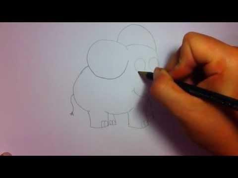 Elefant von Sendung mit der Maus zeichnen lernen