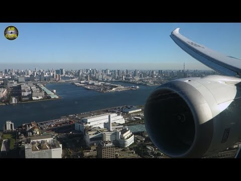 BREATHTAKING Tokyo Downtown Views: ANA Boeing 787 Haneda Sunny Morning Landing!!! [AirClips]