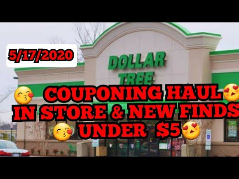 DOLLAR TREE COUPONING HAUL In Store  Under  $5