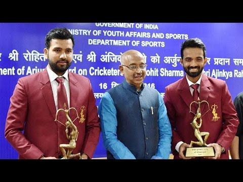 Rohit Sharma, Ajinkya Rahane conferred the Arjuna Award | Oneindia News
