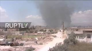 Syria: Smoke billows from Eastern Ghouta as last civilians flee
