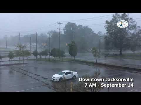 Hurricane Florence - Downtown Jacksonville - September 14, 2018