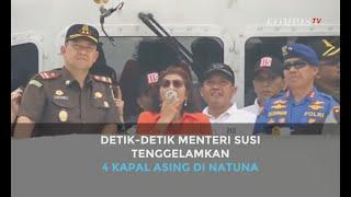 Detik-detik Menteri Susi Tenggelamkan 4 Kapal di Natuna, Total 556 Kapal Sudah Ditenggelamkan