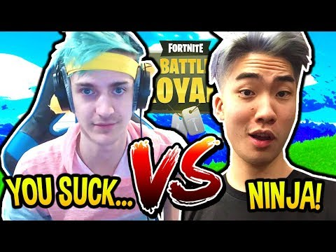 NINJA VS RICEGUM 1V1 IN FORTNITE! GET REKT! Fortnite SAVAGE & FUNNY Moments