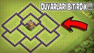 DUVARLARI BİTİRDİK !!(Sonunda !)  Clash Of Clans