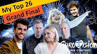 Eurovision 2019 – My Top 26 Songs– (Grand Final)