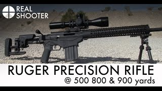 Ruger Precision Rifle @ 500, 800 & 900 Yards with Target Camera