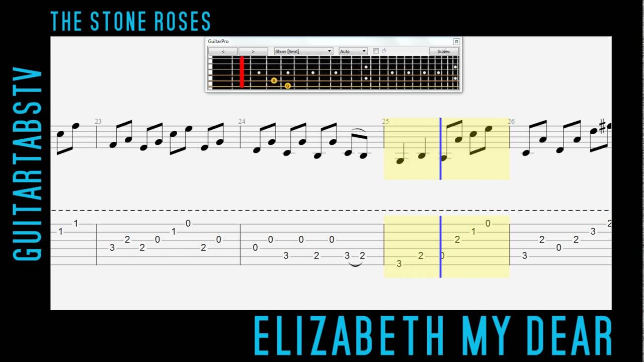 Elizabeth My Dear The Stone Roses Video Guitar Tab Pdf